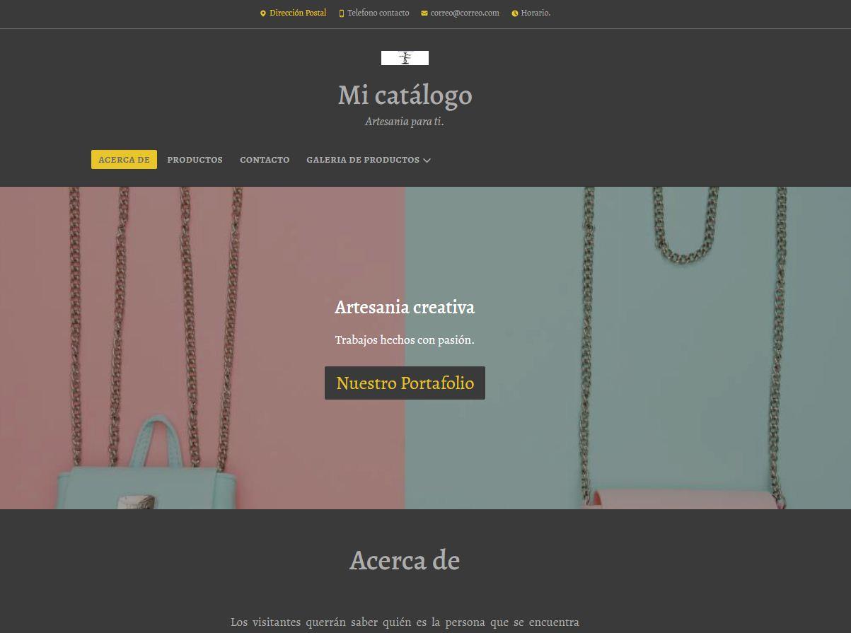 Pack Web prediseñado Catalogo Desarrollo Web Lugo Internet