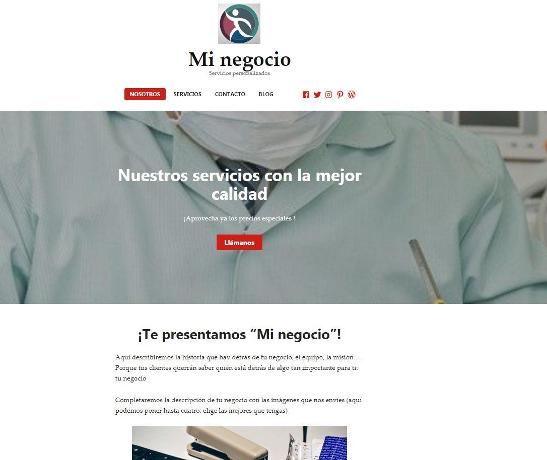 Pack web prediseñado Redhill Desarrollo web Lugo Internet